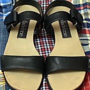 Madeline Black Sandals Size 6 H8